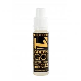 Жидкость для электронных сигарет Pink-Fury GREEN GO Табак 15 мл